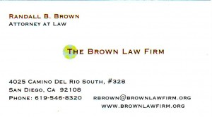 Brownlawfirm Business Card
