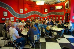 There was a big group at the Corvette Diner after the racing was over.