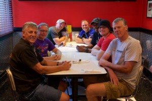 Paul, Jake, Eric and Howard are joined by the Corvettes of San Diego contingent at the Corvette Diner.