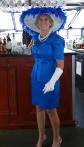 """Judi Spuris came as Lovey Howell and won the """"Best Women's Costume"""" prize."""
