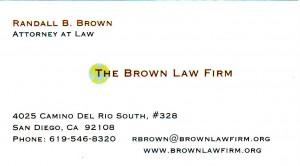Brownlawfirm Business Card