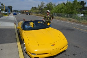 "Alan Atha, Nancy Oeh and Alan's ""new"" C5 convertible."